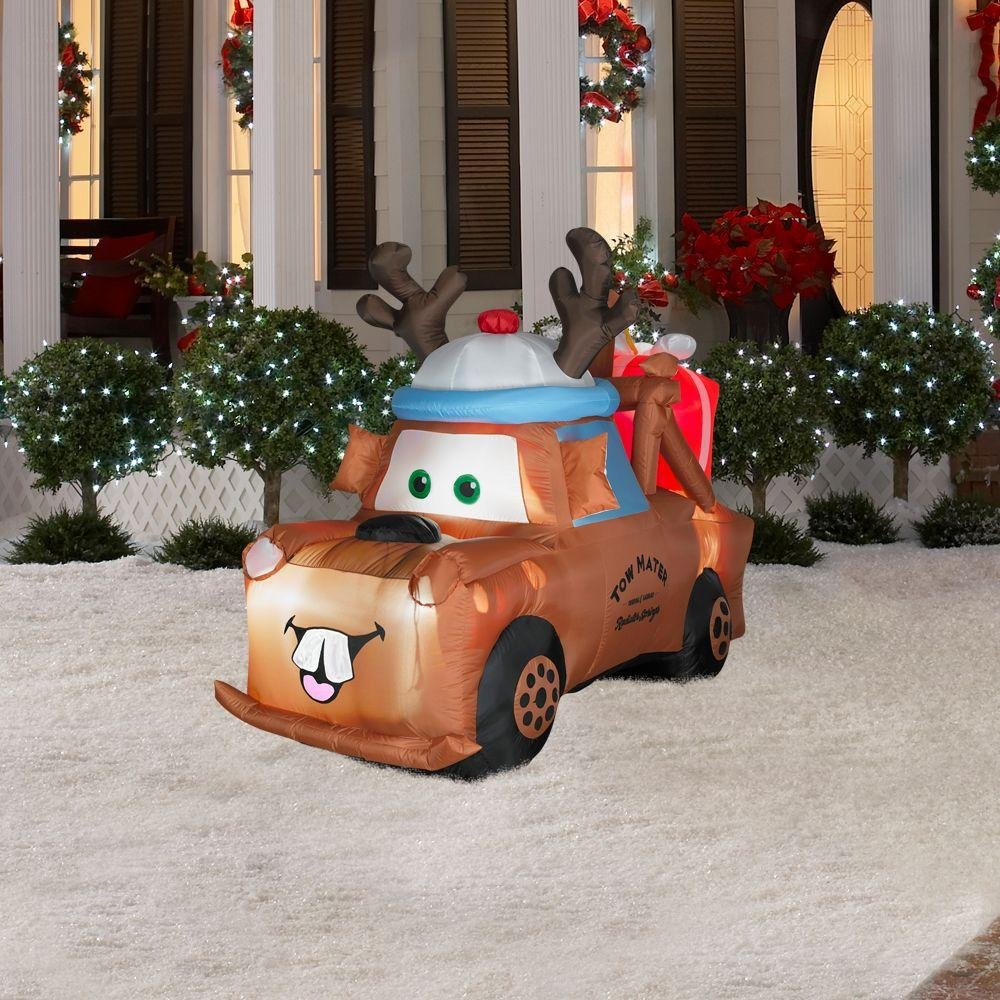 Party Destination Airblown-Mater with Reindeer Hat and Present by Party Destination