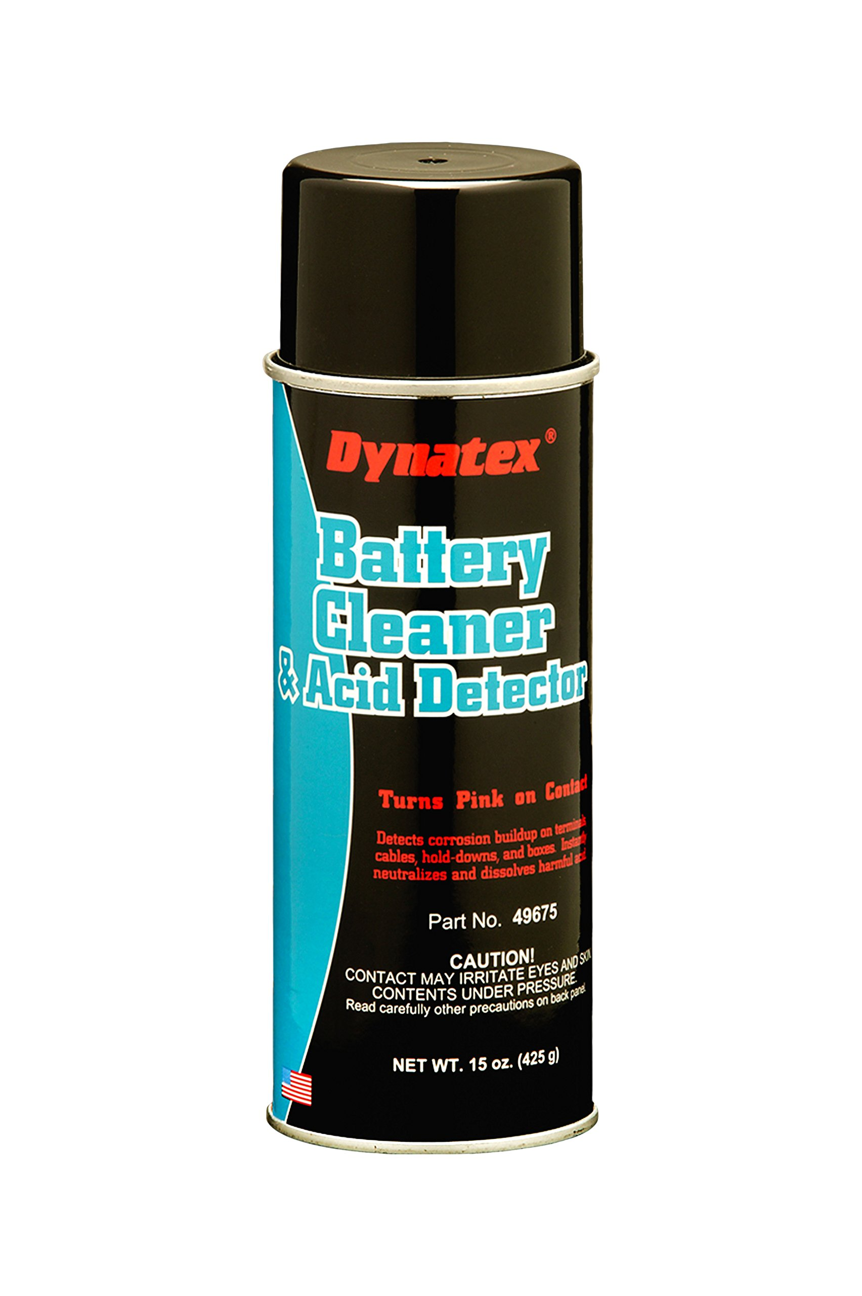 Dynatex 49675 Battery Terminal Cleaner with Acid Detector, 16 oz Aerosol Can