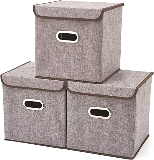 EZOWare Caja de Almacenaje x 3 unidades, Almacenaje Juguetes ...
