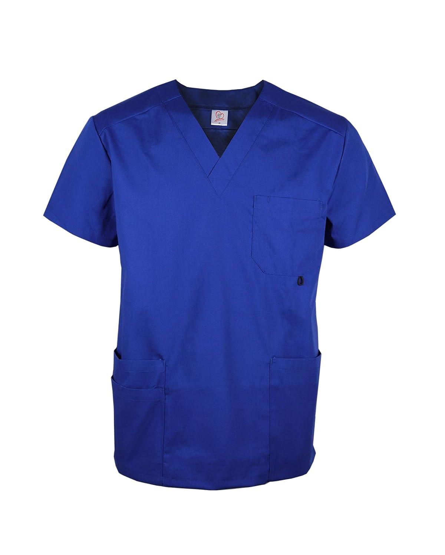 JONATHAN UNIFORM Maglia da Camice Maschia Medica per Uomini con Tasche e V Collo Ospedale Scrub Top Medico