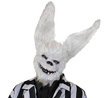 ILOVEFANCYDRESS Furry conejo blanco máscara con dientes y punta orejas. Halloween Fancy Dress Accessory