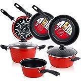 Magefesa Bateria de cocina 5 piezas + Set Juego 3 Sartenes 18-20-24