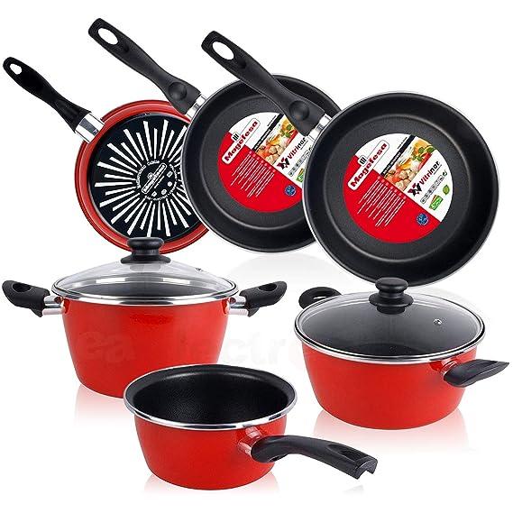 Magefesa Bateria de cocina 5 piezas + Set Juego 3 Sartenes 18-20-24 ...