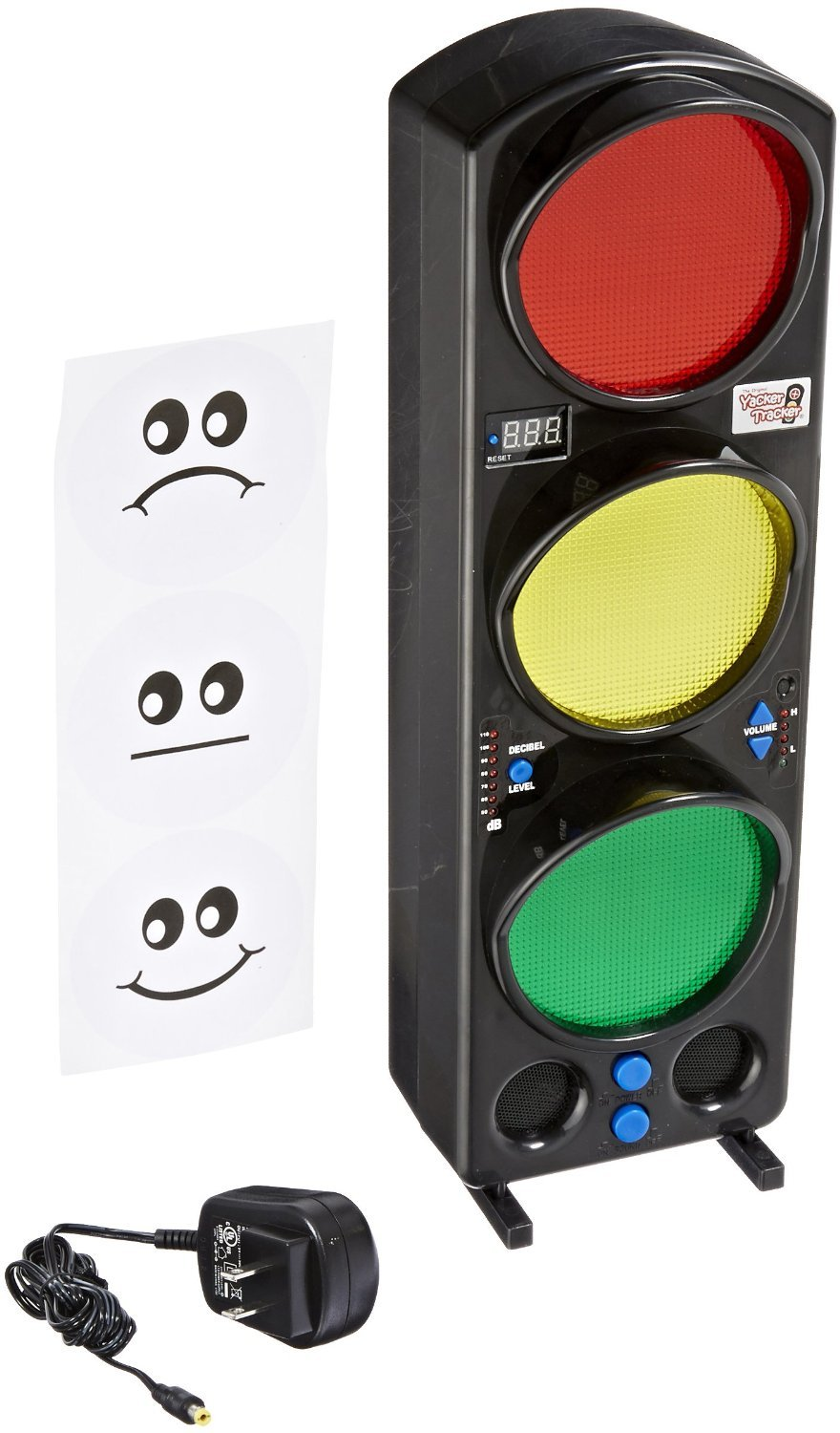 Yacker Tracker Noise Level Monitor Detector - Visual LED Traffic Signal Light - Great for Schools, Classrooms, Cafeterias, Hospitals and More - 17'' by Yacker Tracker