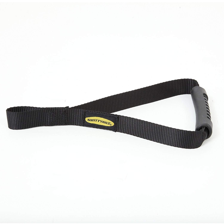 Smittybilt 769402 Black Winch Hook Grab Handle with Premium Pull Strap