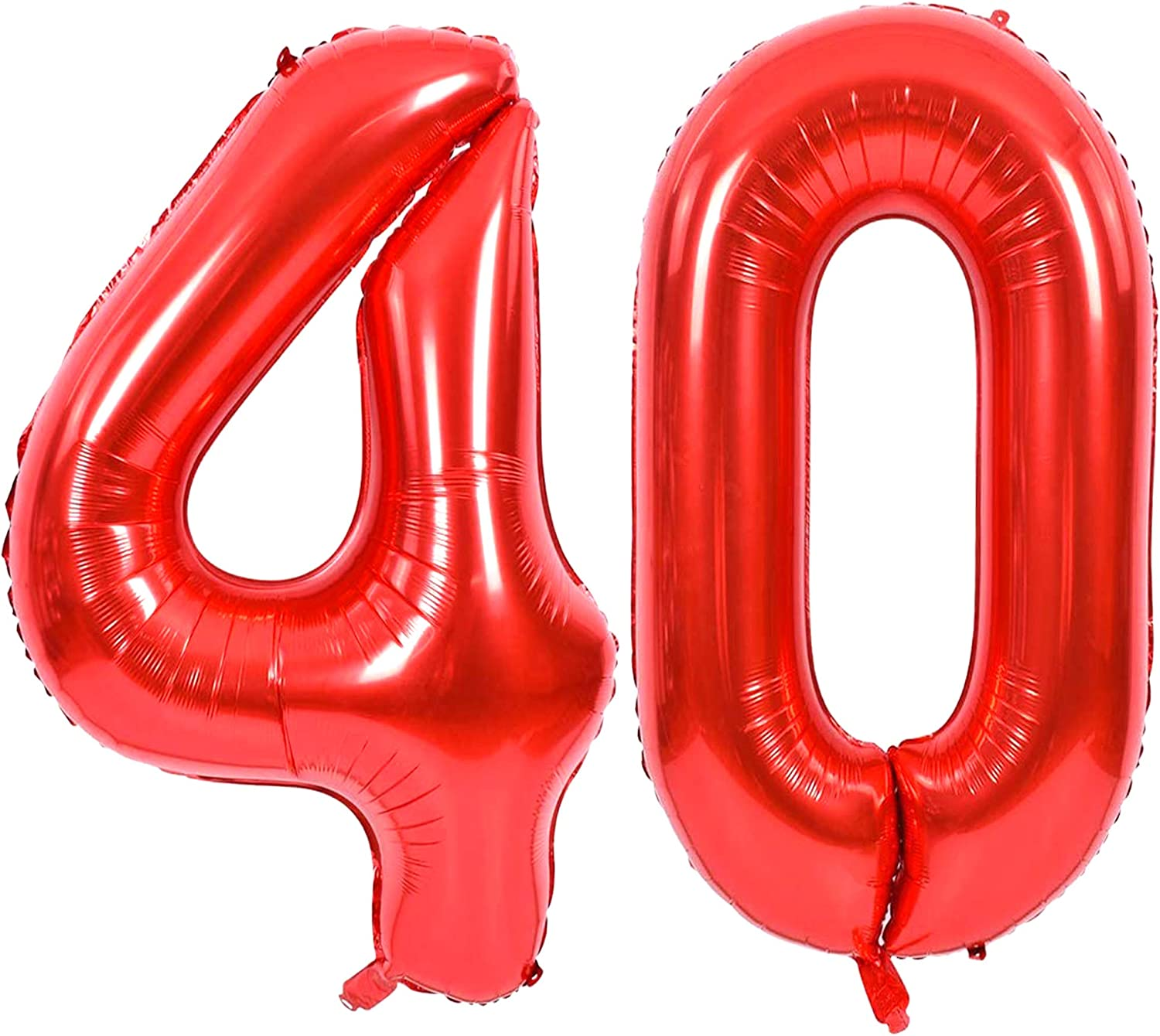 16 inch 40 Hot Red Number Balloons 40th Birthday Party Anniversary Foil Balloon