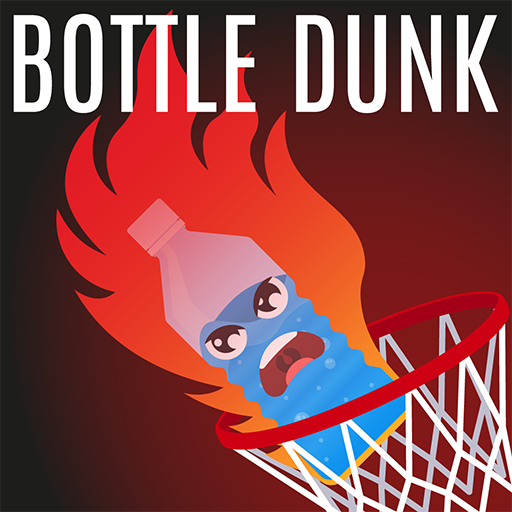 Bottle Dunk Flip Fire - Hit Flappy Flipping Bottle Into Basketball Hoops: Extreme Flick ()