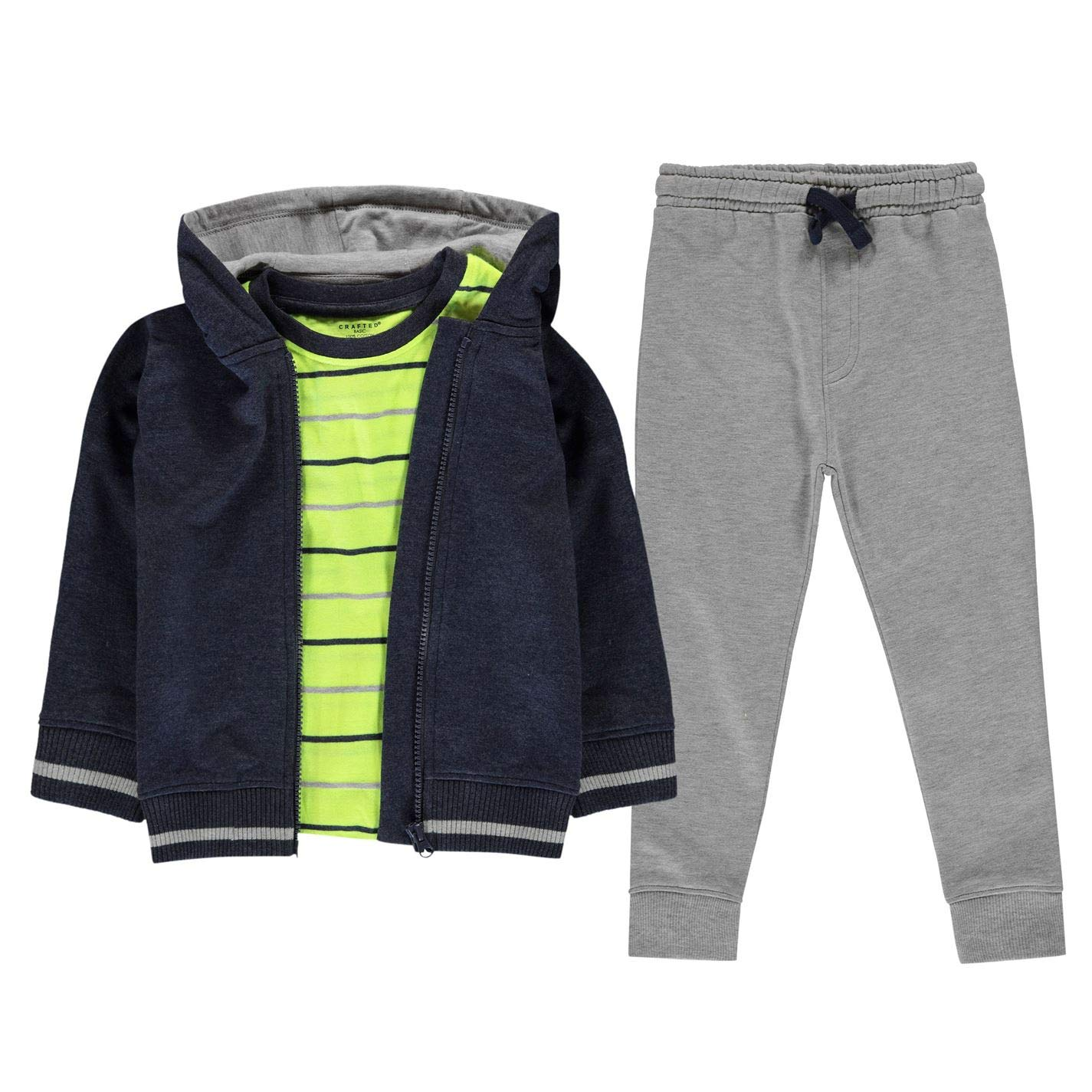 Crafted Kids Boys 3 Piece Jogger Set Infant Clothing Short
