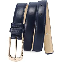 Selighting Women's Faux Leather Belts Solid Color Thin Waist Belt for Jeans Dresses