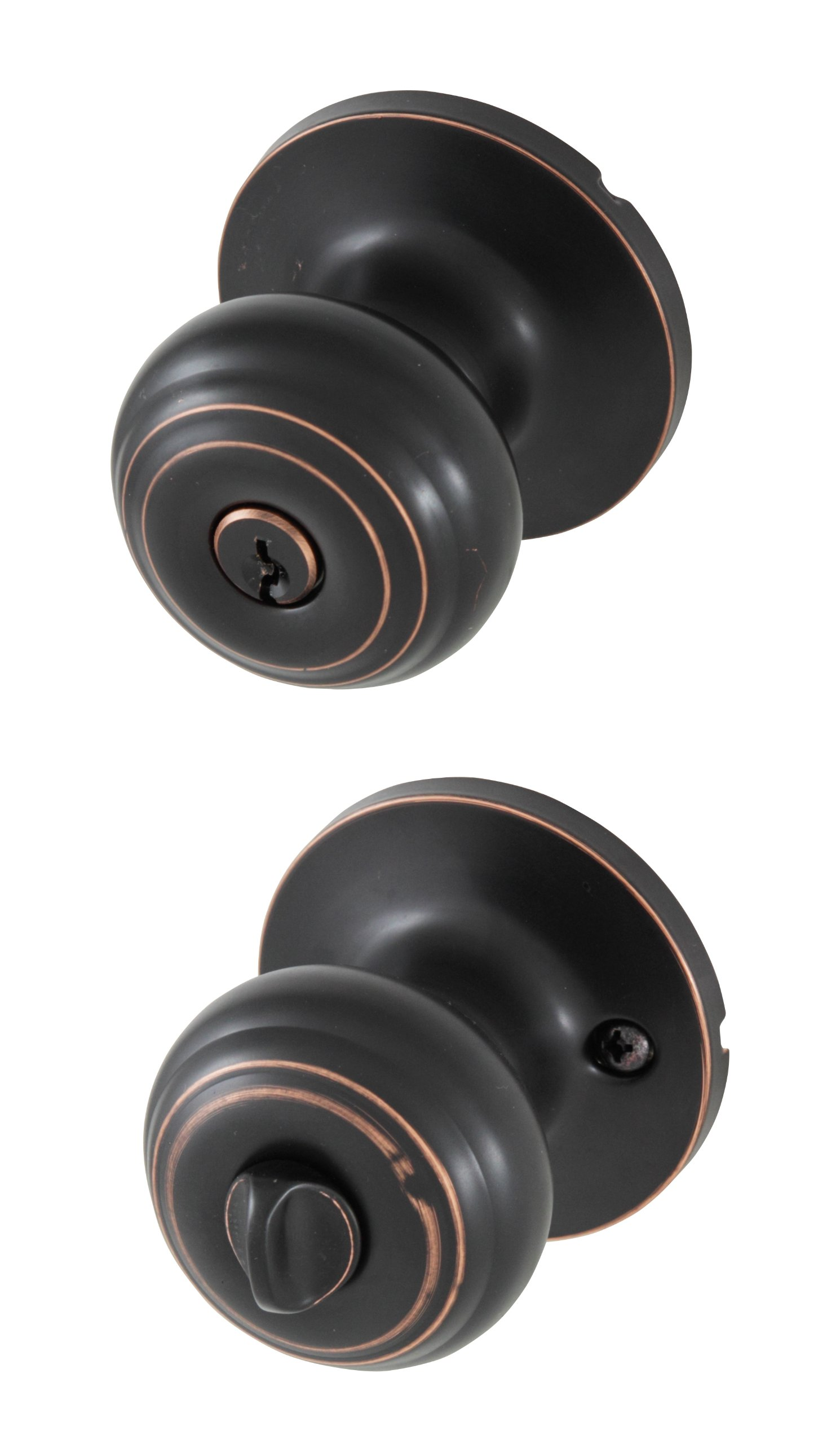Honeywell 8101401 Classic Entry Door Knob, Oil Rubbed Bronze