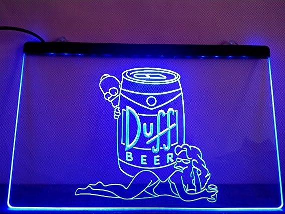 Simpsons Duff Cerveza LED Caracteres Publicidad Neon Cartel ...