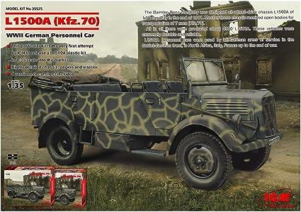c0b720a3454de2 Amazon.com  ICM Models L1500A Kfz.70 WWII German Personnel Car ...