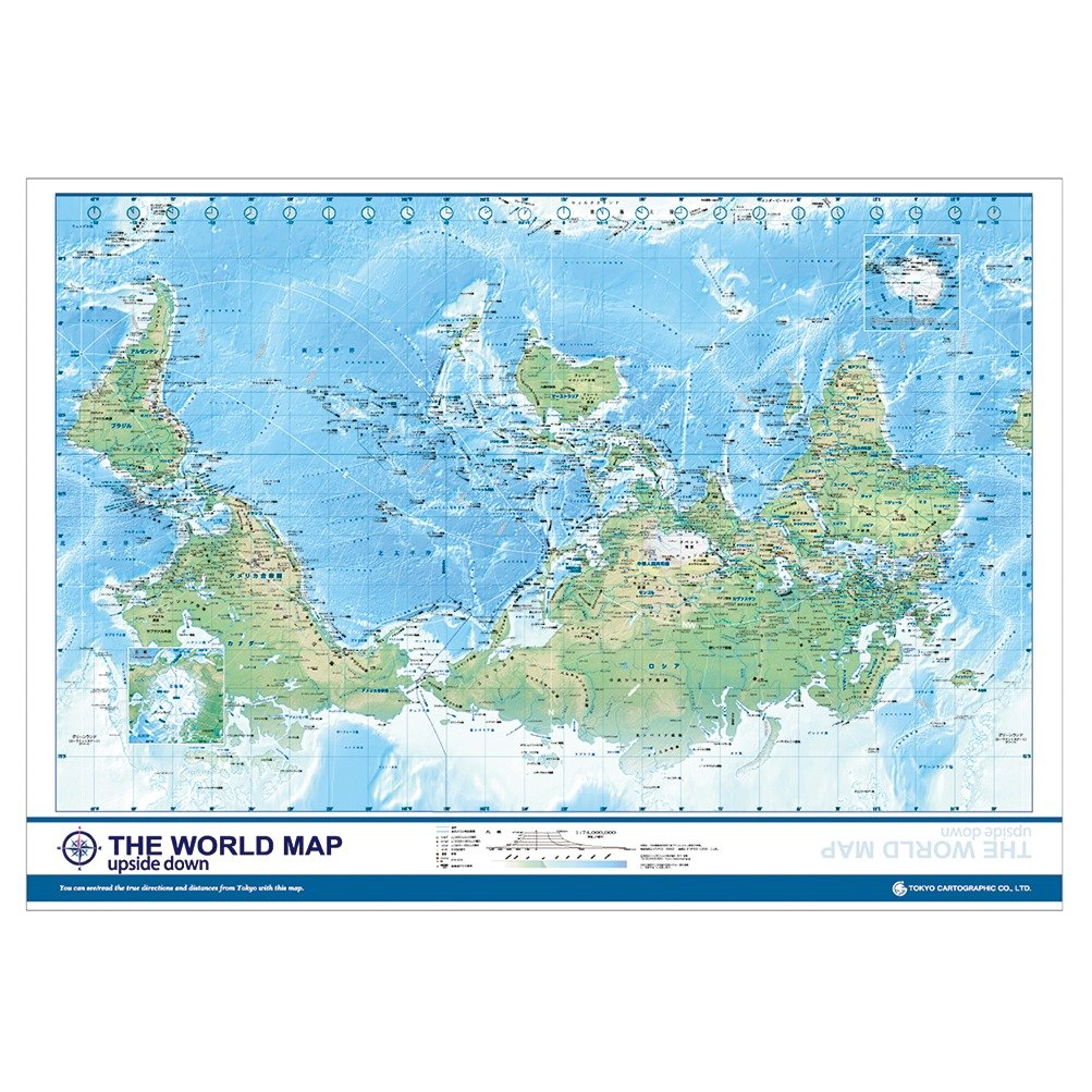 Amazon the world map upside down office products gumiabroncs Gallery