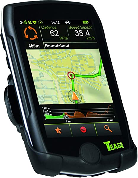 Teasi Pro - Navegador GPS para Bicicleta y Senderismo con Bluetooth, Color Negro: Amazon.es: Deportes y aire libre