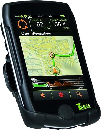 Teasi Pro - Navegador GPS para Bicicleta y Senderismo con Bluetooth, Color Negro