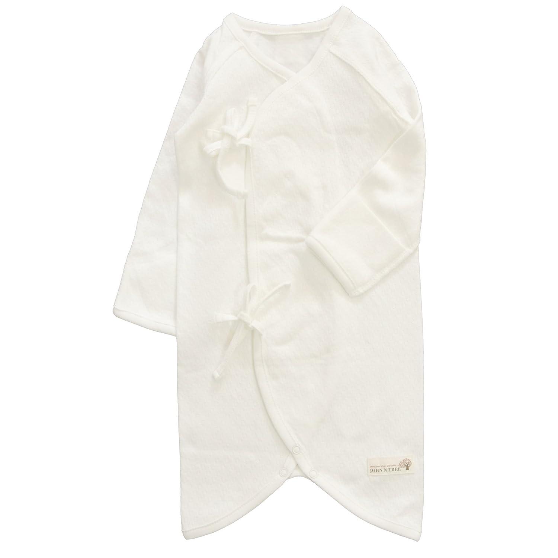 JOHN N TREE Organic Button Kimono Gown, 0~3 Months, 100% Organic Cotton Button Kimono Gown EL KOREA