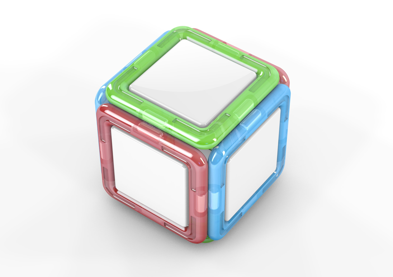 Non-Verbal Reasoning 3D Aid- 11 plus Magnetic Cube Net CEM