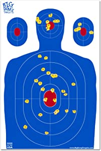 Big Dawg Targets 12 X 18 Inch Blue Silhouette Reactive Splatter Target