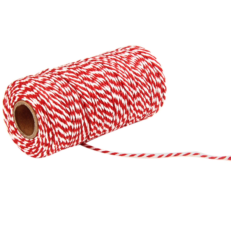 Negro + Blanco Gosear 1 Rollo de 100 Yardas de 2 hebras de Hilo de algod/ón cordeles Cuerda Cable para acolchar Regalo Envolver Scrapbooking artesan/ías Bricolaje