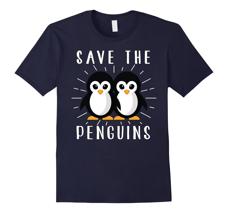 Save The Penguins Cute Animal Environmentalist T-Shirt-FL