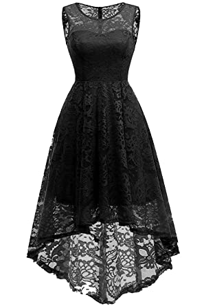 Womens Dresses For Wedding Guest Floral Lace Cocktail Bridesmaid Dress High Low