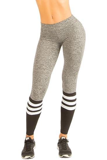 aaf884ac5b6d8a Bombshell Sportswear Sock Leggings - Grey/Black at Amazon Women's ...