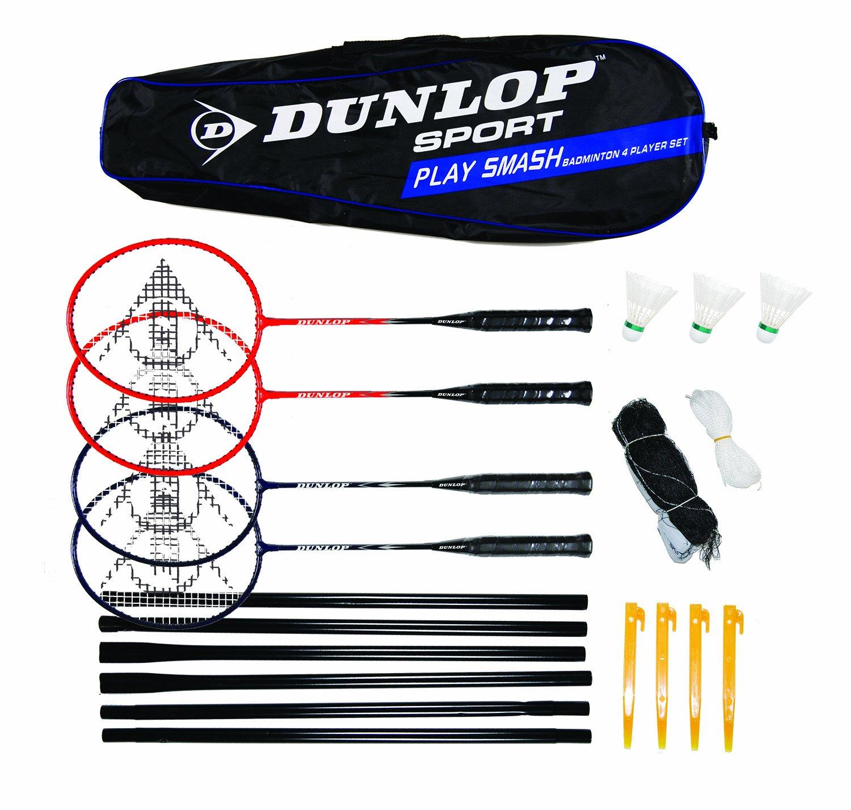 ★日本の職人技★ Dunlop B0063UBEVK Set Play Smash Dunlop 4 Player Badminton Set B0063UBEVK, エクシーズ:bbcb84fd --- arianechie.dominiotemporario.com