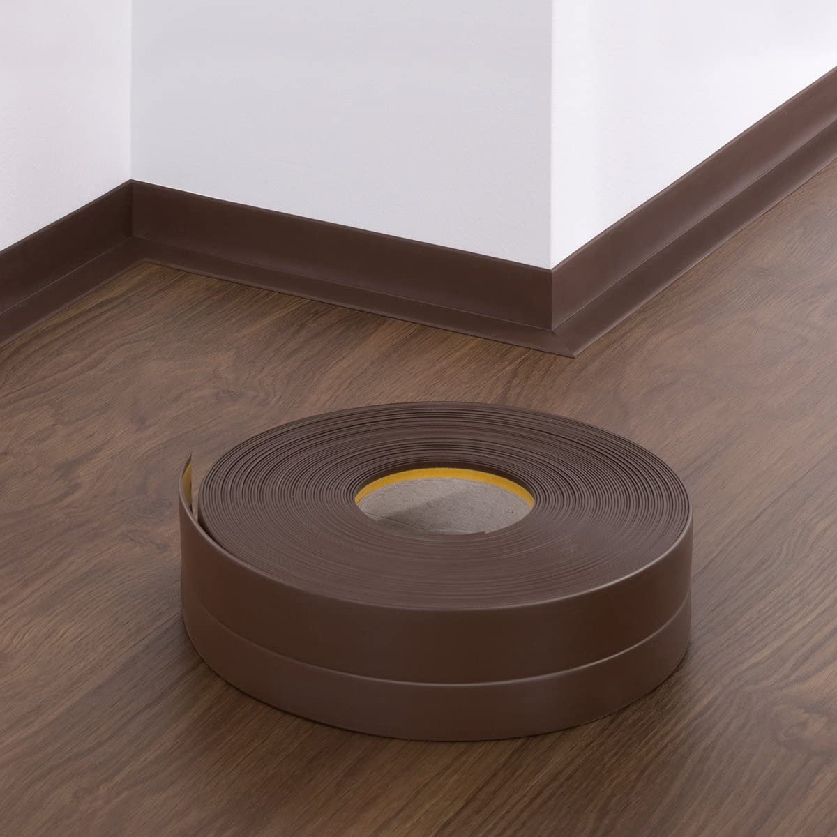 5 m HOLZBRINK Plinthe Souple Autoadh/ésive Chocolat Plinthe pliable 32x23 mm
