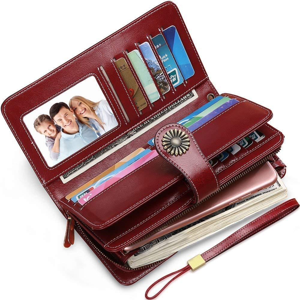 Sendefn Brand Fashion Luxury Women Leather Wallets Female Card Holder Long Lady Clutch phone pocket Carteira