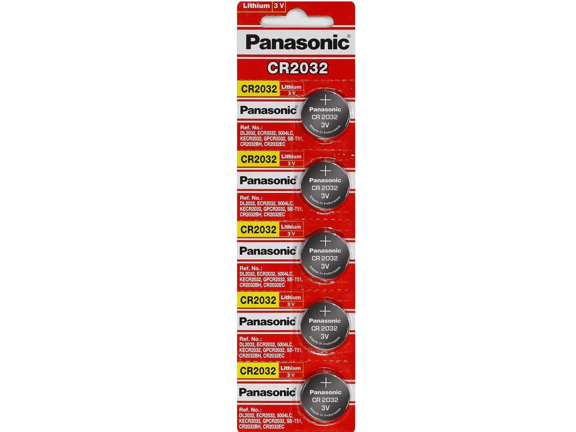 Panasonic CR2032 Lithium 3 Volt Battery (5 pieces) by Panasonic (Image #2)