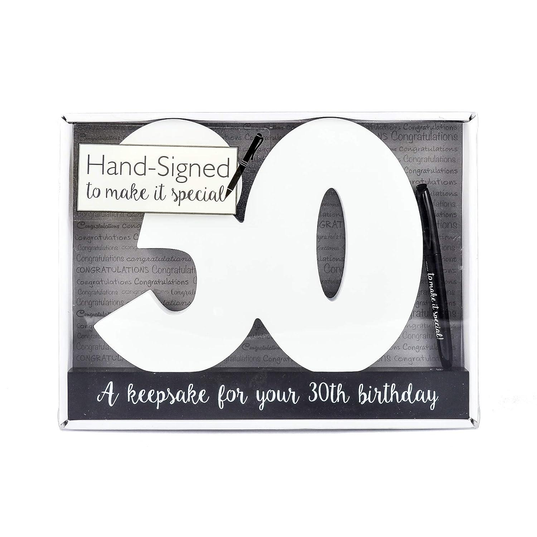 Glücklich 30. Geburtstag Holz Unterschrift Anzahl Partei Celebrity ...