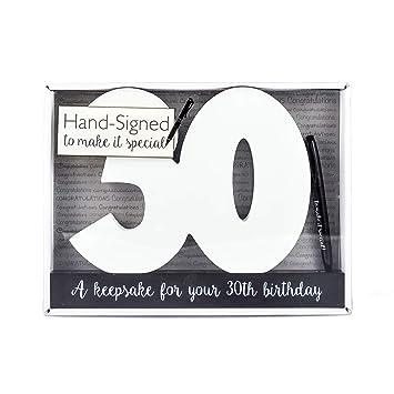 Feliz cumpleaños de 30 años firma de madera Número parte Celebrity Decoración