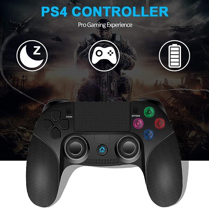 JAMSWALL PS4 Controlador Dual Vibration Shock Joy Stick para Playstation 4 con Cable de 2.2 M: Amazon.es: Electrónica