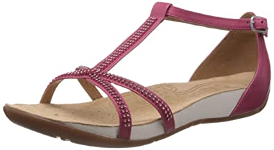 c65876df43c Clarks Womens Casual Clarks Rona Sparkle Leather Sandals In Pink Standard  Fit Size 4.5
