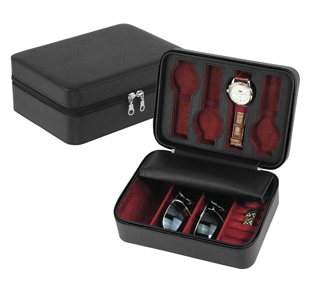 01f5d96b7366c DecoreBay Unisex Watch, sunglasses,Cufflink Case & Ring Storage Organizer  Jewelry Box Gift (Love Life)