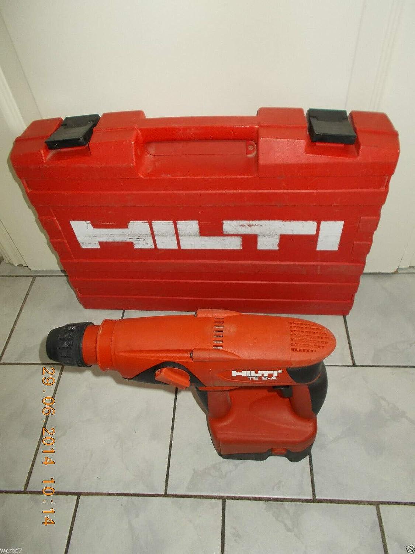 Hilti TE 2 Un taladro percutor inalámbrico con batería en la caja de herramientas Hilti original, probado, funcional, en buen estado
