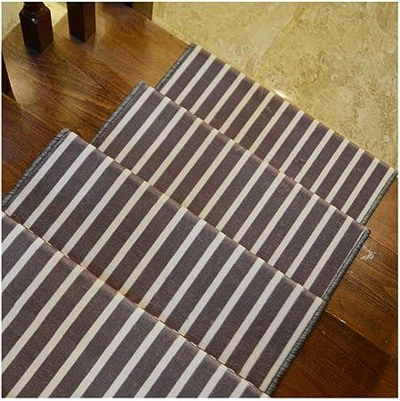 Alfombras de Escalera Escalera Almohadillas Adhesivas Manta/Estera De Huella De Peldaño Antideslizante Paso Protección Alfombra Cubierta Auto Adhesivo Paso Covers 24x65cm 9mm: Amazon.es: Hogar