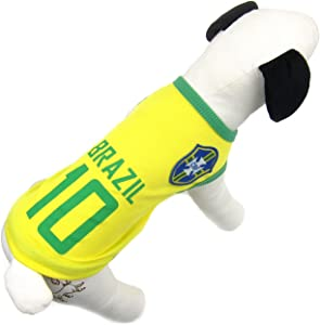 Alfie Pet - Ezra Soccer Jersey - Color: Brazil