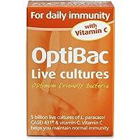 OptiBac For Daily Immunity | 5 Billion CFU Lactobacillus Paracasei CASEI 431 & Vitamin C Supplement | Vegan & No Added Sugar | 30 Capsules