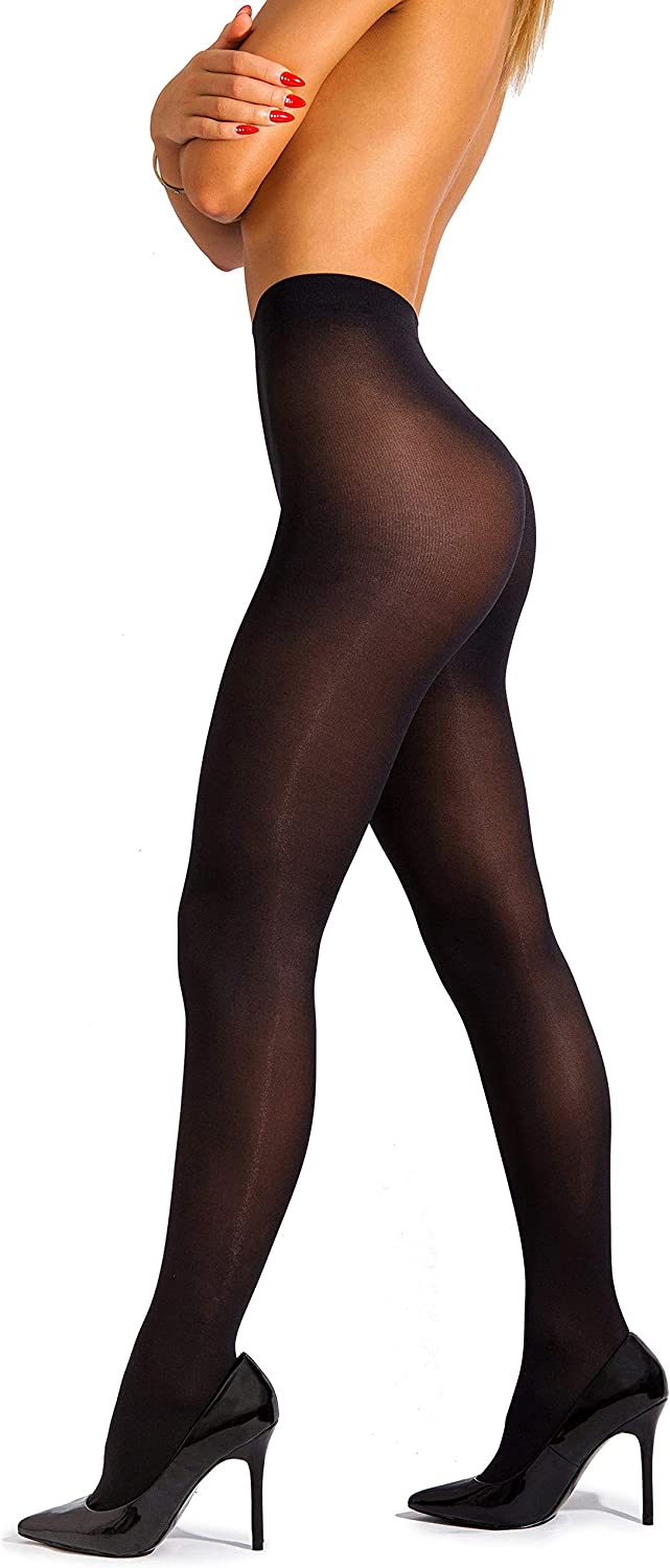 sofsy Opaque Microfibre Tights for Women - Invisibly Reinforced Opaque Brief Pantyhose 40Den [Made In Italy] at  Women's Clothing store