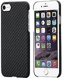 iPhone 7 Hülle von PITAKA Aramid - schwarz / grau (Köper) 4.7 Zoll Schutzhülle ultra dünn 0.65mm Handyhülle (mit Schutzfolie)