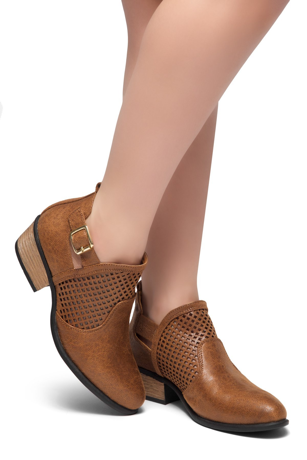 Herstyle Women's Milton - Casual Ankle Boot Cognac 8