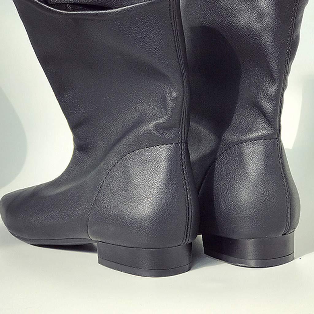 Dasongff - Botas de media caña para mujer, con forro de frío ...