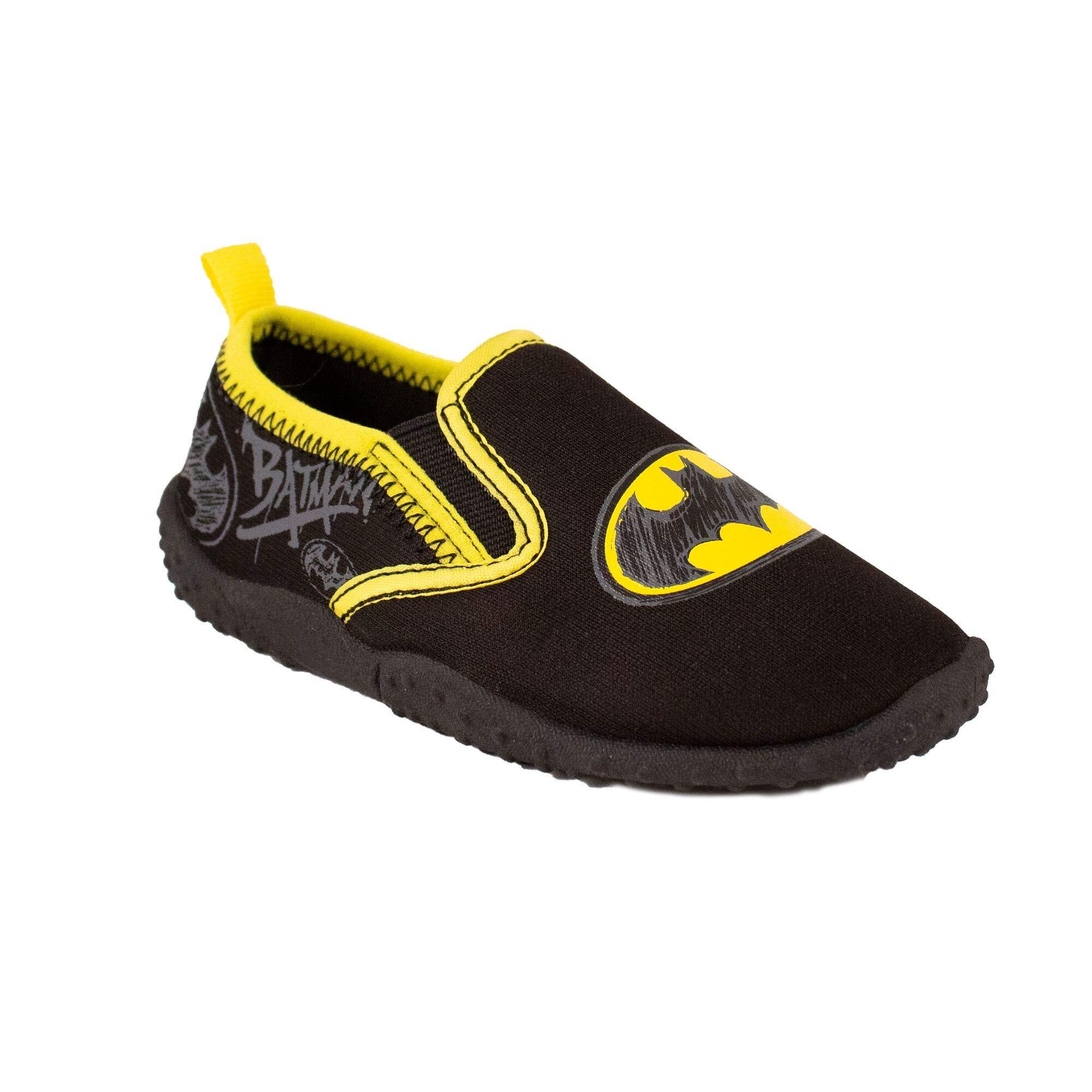 Favorite Characters Batman Slip On Water Shoes Dual Sizes Black Toddler/Little Kid (Medium M)