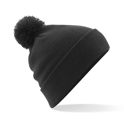 014cc9639c4 Beechfield Unisex Original Pom Pom Winter Beanie Hat (One Size) (Black)