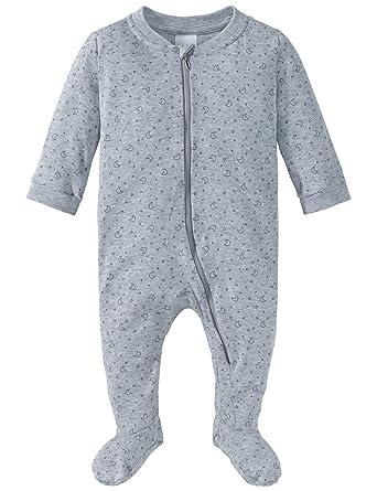 3748ac7712 Schiesser Unisex Zweiteiliger Schlafanzug Baby Anzug mit Fuß Grau-Mel. 202,  56 (