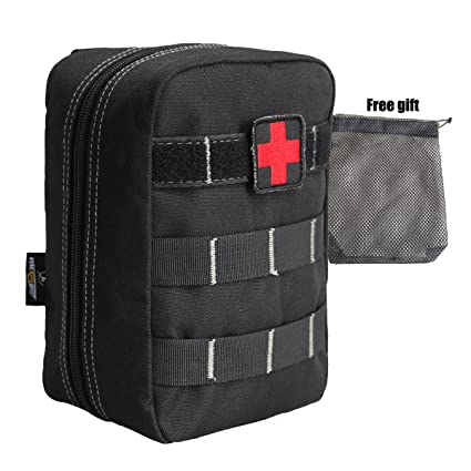 44c27f33718b 4in1 Outdoor First Aid Survival Kit Rip-Away EMT Pack Tactical MOLLE  Medical Belt Pouch