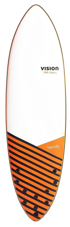 Vision - Tabla de Surf Unisex de Espuma Deslizante de 5 Aletas, Blanco/Negro, 6: Amazon.es: Deportes y aire libre