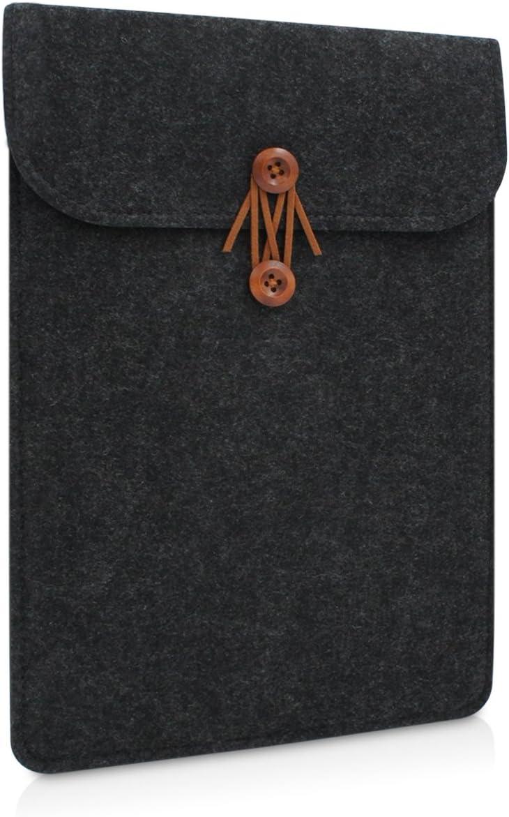 Buruis 15 Inch Laptop Sleeve for MacBook Pro with Retina 15.4 Inches, Felt Tablet Notebook Bag, Slim Envelope Case (Black)