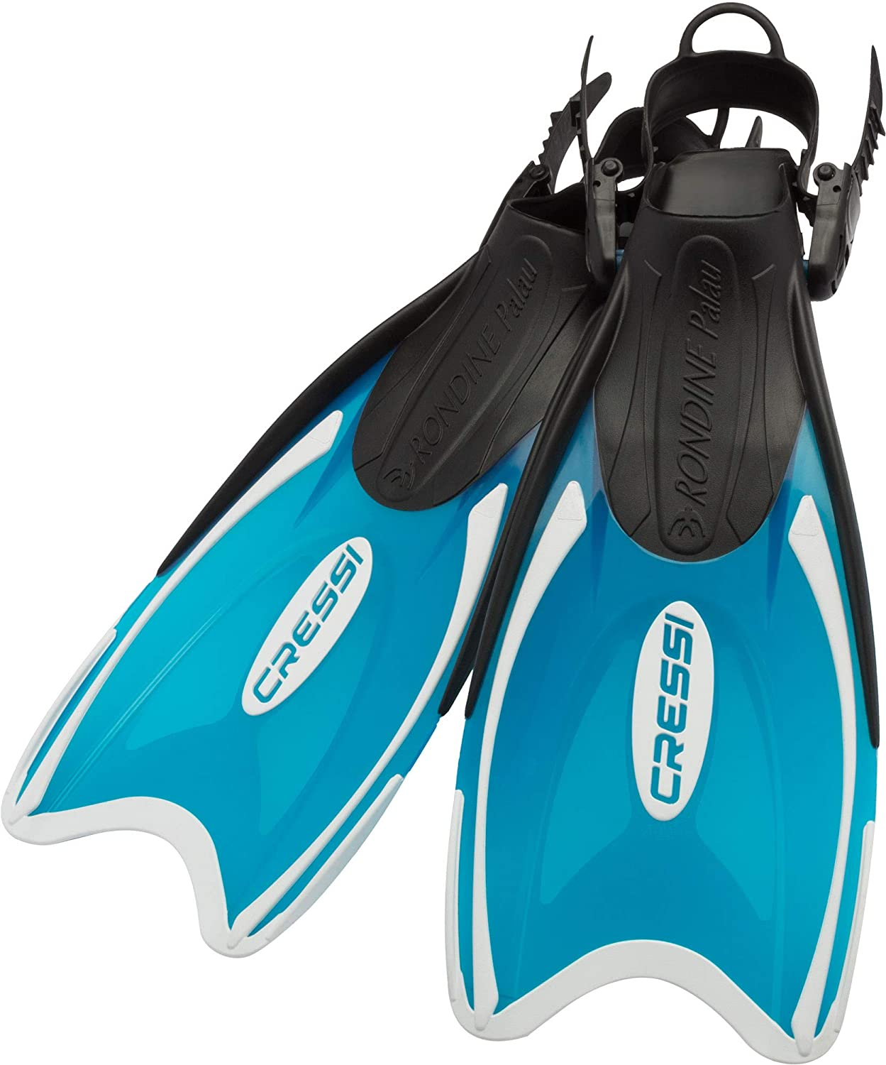 Mini Palau: Made in Italy Light and Short: Ideal for Traveling Cressi Kids Snorkeling Open Heel Fins with Adjustable Strap Perfect for Young Swimmers